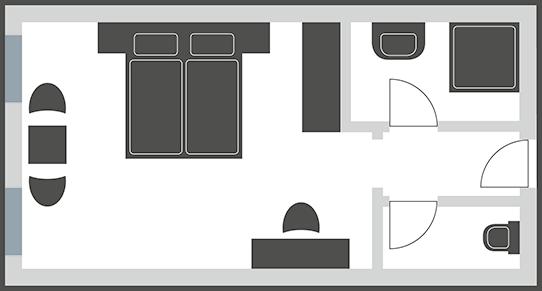 Doppelzimmer Typ 4N