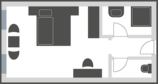Doppelzimmer Einzelnutzung Typ 6N